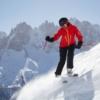 Шамони. Лыжница на склоне