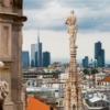 Милан. Вид на город с террасы собора Дуомо