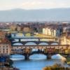 Флоренция. Панорама Флоренции и моста Понте Веккьо