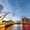 Дублин. Дублинский конференц-центр и мост Сэмюэла Беккета