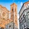 Флоренция. Собор Санта Мария дель Фьоре, Колокольня Джотто и Баптистерий Сан-Джованни