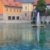 Венгрия. Тапольца. Фонтан в центре города