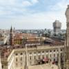 Милан. Вид на Королевский дворец с собора Дуомо