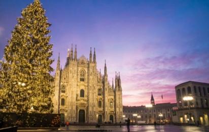 Италия. Милан. Дуомо. Зима