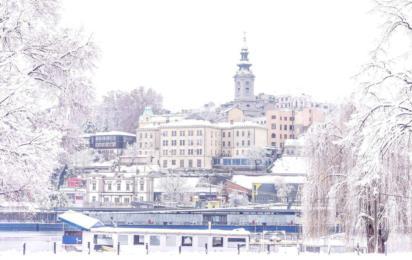 Сербия. Белград. Набережная и Собор Святого Михаила