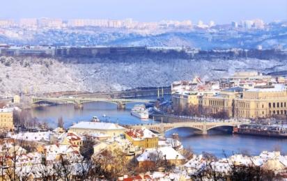 Чехия. Прага. Зимний пейзаж