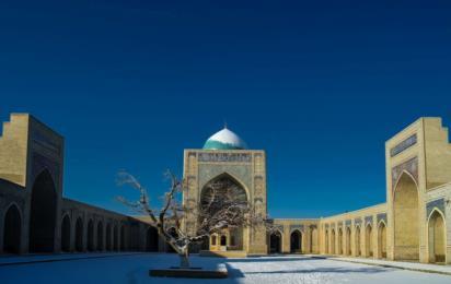 Узбекистан. Бухара. Зима. Мечеть Калян. Двор