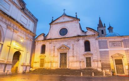 Рим. Базилика Санта-Мария-дель-Пополо