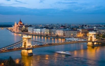 Будапешт. Ночной вид на Цепной мост