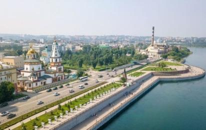 Россия. Иркутск. Нижняя набережная Ангары