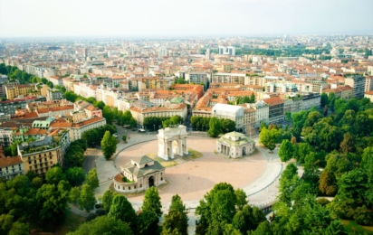 Милан. Панорамный вид
