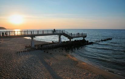 Светлогорск (Калининградская область). Закат на побережье Балтийского моря