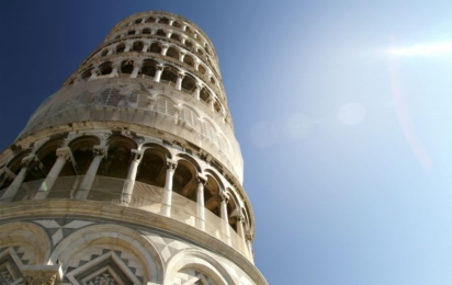 Пиза. Пизанская башня изблизи