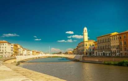 Пиза. Набережная реки Арно