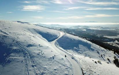 Дербент. Горнолыжные склоны. Зима