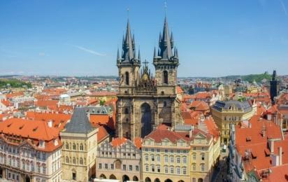 Чехия. Прага. Староместская площадь. Храм Девы Марии перед Тыном