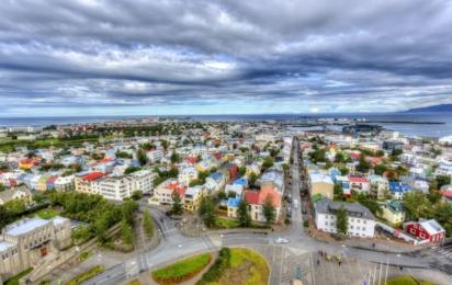 Рейкьявик. Панорамный вид на город