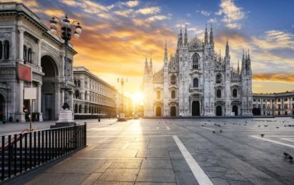 Милан. Собор Дуомо на закате