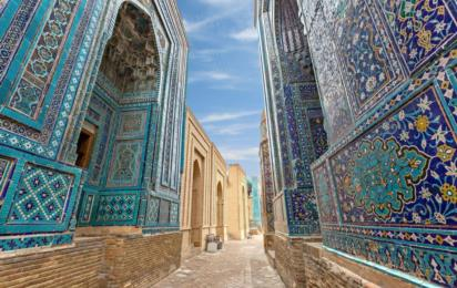 Узбекистан. Самарканд. Ансамбль мавзолеев Шахи Зинда