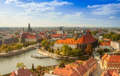 Вроцлав. Панорама города