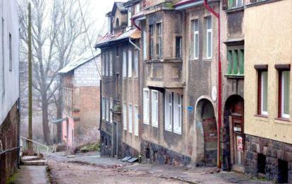 Гвардейск (Калининградская область). Зима. Старая немецкая улица