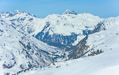 Лех. Вид на лыжные трассы