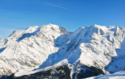 Франция. Эвазьон Мон-Блан. Вид на склоны