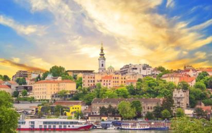 Исторический центр Белграда. Река Сава