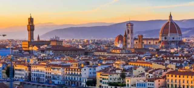 Флоренция. Вид на закате