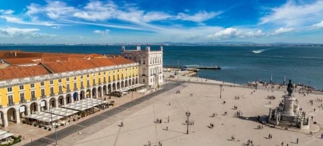 Лиссабон. Торговая площадь. Вид сверху