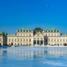 Австрия. Вена. Дворец Бельведер зимой