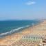 Римини. Панорама пляжа